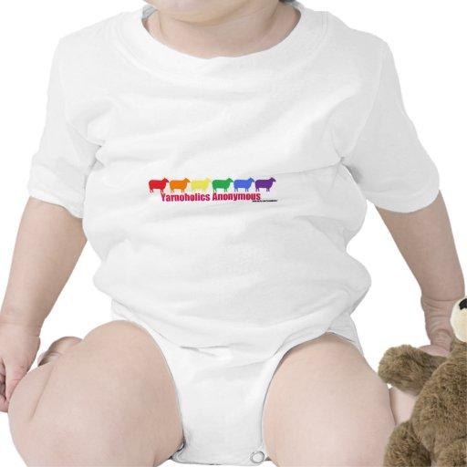 Ovejas anónimas del arco iris de Yarnoholics Traje De Bebé