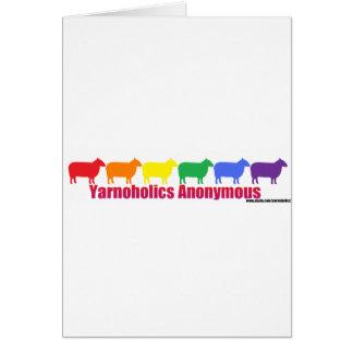 Ovejas anónimas del arco iris de Yarnoholics Tarjeta De Felicitación