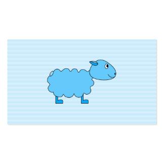 Ovejas azules tarjetas de visita