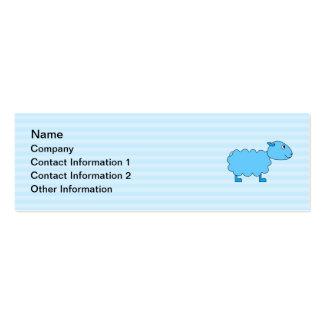 Ovejas azules tarjetas de visita mini