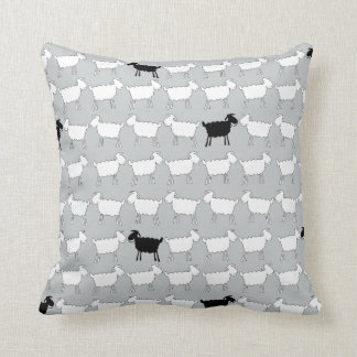 Ovejas blancas animales y la almohada de tiro de cojín decorativo