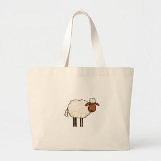 ovejas blancas bolsa tela grande