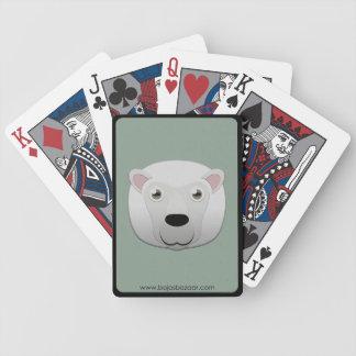 Ovejas blancas de papel baraja de cartas