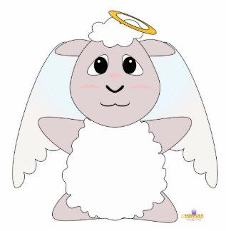 Ovejas blancas del ángel Huggable Esculturas Fotograficas