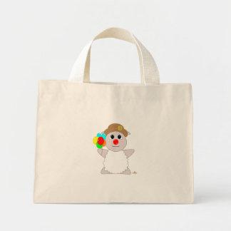 Ovejas blancas del payaso Huggable Bolsas
