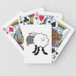 Ovejas blancas grandes barajas de cartas