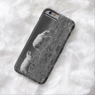 Ovejas blancos y negros en una foto del pasto funda barely there iPhone 6