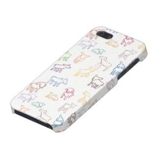 Ovejas coloridas iPhone 5 fundas