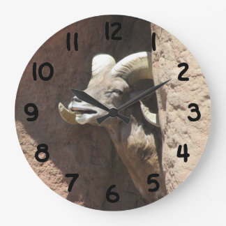 Ovejas de Bighorn Reloj Redondo Grande