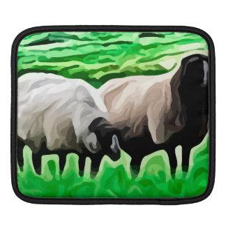 ovejas de cabeza negra que pastan manga de iPad