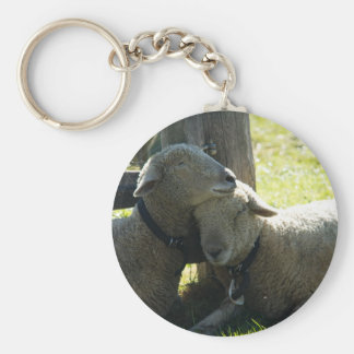 Ovejas de la oveja del amor llavero redondo tipo pin