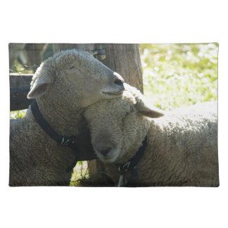 Ovejas de la oveja del amor mantel individual