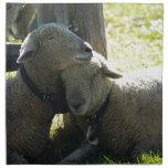 Ovejas de la oveja del amor servilletas