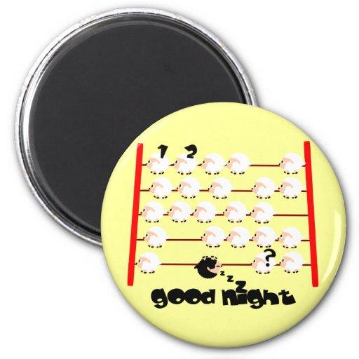ovejas de las buenas noches imán redondo 5 cm