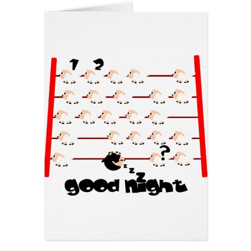 ovejas de las buenas noches tarjeta de felicitación