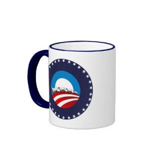 Ovejas de Obama Taza A Dos Colores