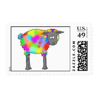 Ovejas del aerógrafo timbres postales