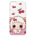 Ovejas del bebé de Kawaii y cerezas lindas iPhone 5 Cárcasa