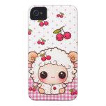 Ovejas del bebé de Kawaii y cerezas lindas iPhone 4 Case-Mate Protector