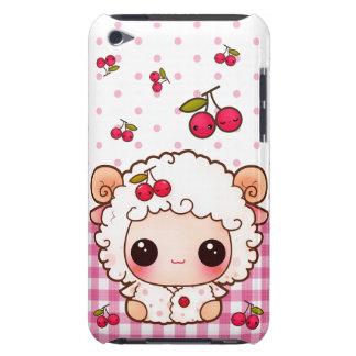Ovejas del bebé de Kawaii y cerezas lindas Barely There iPod Cárcasa