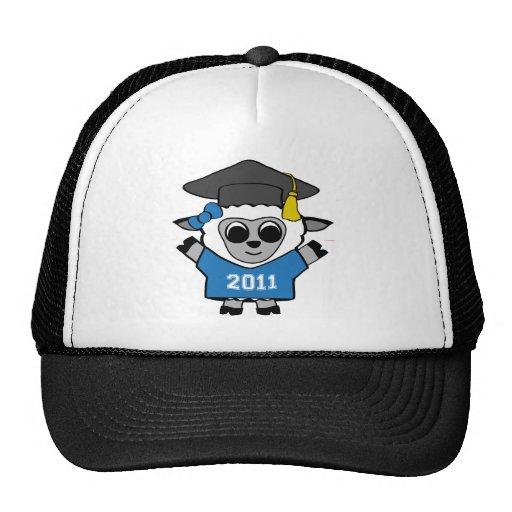 Ovejas del chica graduado azul y del blanco 2011 gorro