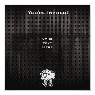 """Ovejas del Grunge Invitación 5.25"""" X 5.25"""""""