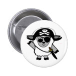 Ovejas del muchacho en traje del pirata pin