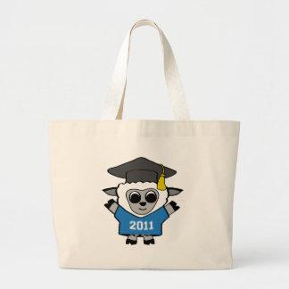 Ovejas del muchacho graduado azul y del blanco 201 bolsa tela grande