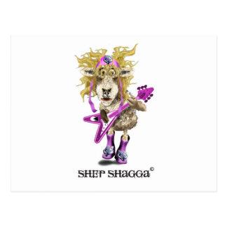 Ovejas del rollo de la roca n de Shep Shagga Postales