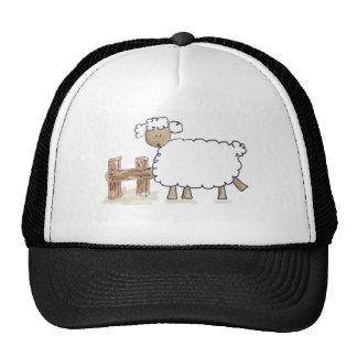 Ovejas del vintage por los animales del campo dive gorras