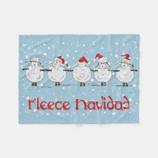 Ovejas DIVERTIDAS adorables del navidad de Navidad Manta De Forro Polar