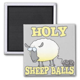 ovejas divertidas del hilado de las bolas santas d imán de frigorifico