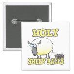 ovejas divertidas del hilado de las bolas santas d pin cuadrado