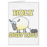 ovejas divertidas del hilado de las bolas santas tarjeta de felicitación