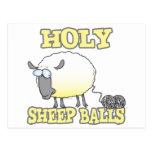 ovejas divertidas del hilado de las bolas santas postal
