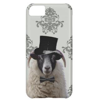 Ovejas divertidas del novio en sombrero de copa funda para iPhone 5C