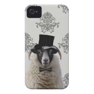 Ovejas divertidas del novio en sombrero de copa iPhone 4 carcasas