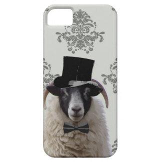 Ovejas divertidas del novio en sombrero de copa iPhone 5 funda