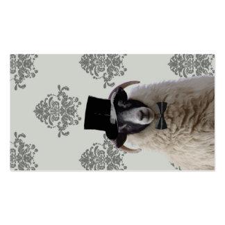 Ovejas divertidas del novio en sombrero de copa tarjetas de visita