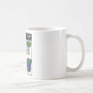 Ovejas estáticas de la luna taza de café