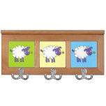 ovejas lanosas de la granja