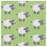 ovejas lanosas de la granja divertida telas