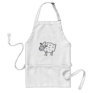 ovejas lindas del dibujo animado delantales