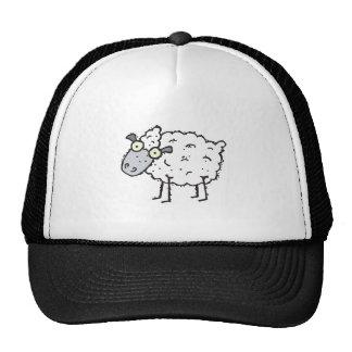 ovejas lindas del dibujo animado gorro