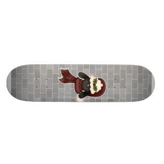 ovejas lindas del navidad tabla de patinar