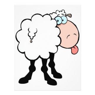 "ovejas lindas divertidas que pegan la lengua hacia folleto 8.5"" x 11"""
