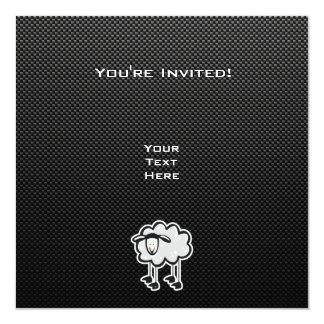 """Ovejas lisas invitación 5.25"""" x 5.25"""""""