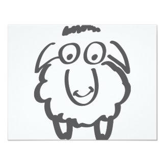 """ovejas merinas invitación 4.25"""" x 5.5"""""""
