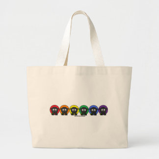 Ovejas mullidas anónimas del arco iris de Yarnohol Bolsa Tela Grande