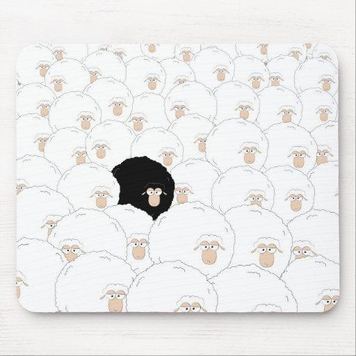 Ovejas negras alfombrilla de ratones